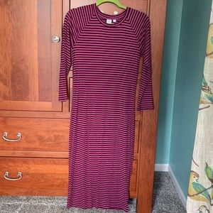 Stretchy ribbed midi dress - tall!